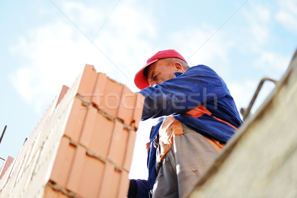 Working and building on new house project Stock photo © zurijeta