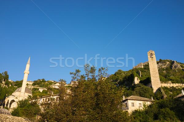 Famous Pocitelj old town near Mostar in Bosnia Herzegovina Stock photo © zurijeta