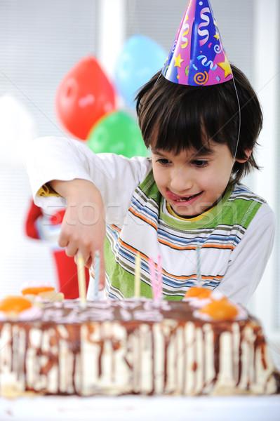 Сток-фото: С · Днем · Рождения · рождения · фон · свечу · Kid · смешные