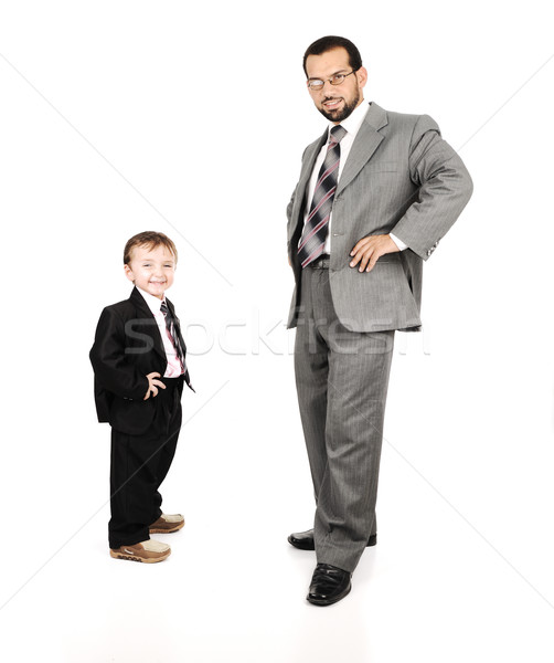 Stockfoto: Jonge · vader · zoon · suits · business · man