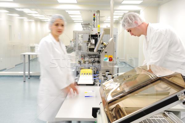 Workers at modern drug factory  Stock photo © zurijeta