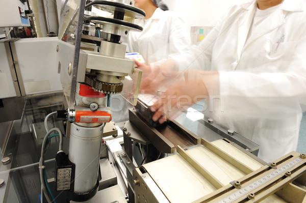 Automated production line in modern factory Stock photo © zurijeta