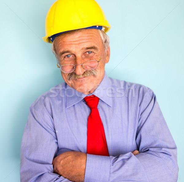 Gelukkig glimlachend senior architect portret Stockfoto © zurijeta