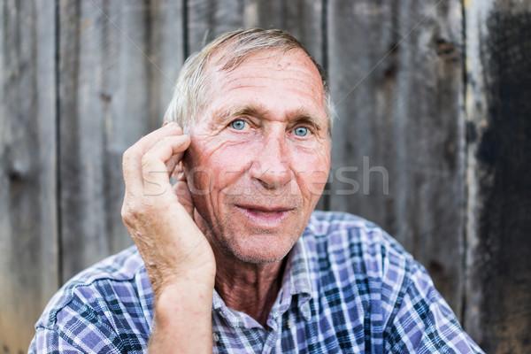 Portre kıdemli adam açık havada sağlık kişi Stok fotoğraf © zurijeta