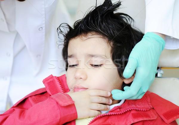Kid ziekenhuis uit melk Stockfoto © zurijeta