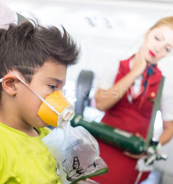 First aid in airplane Stock photo © zurijeta