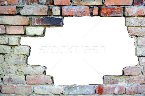 стандартный кирпичная стена различный цвета белый место Сток-фото © zurijeta