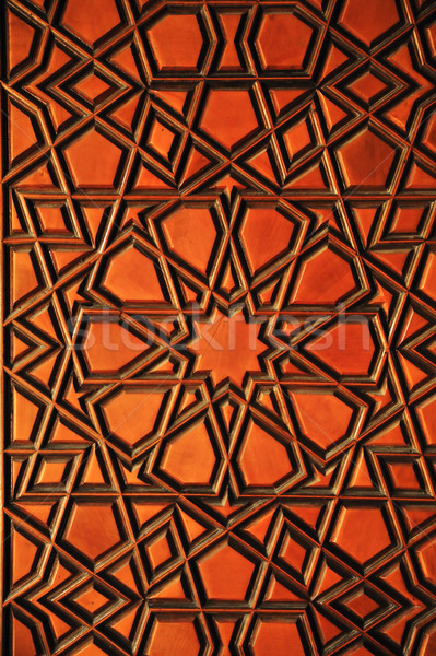 Wooden background, orient, ornament Stock photo © zurijeta