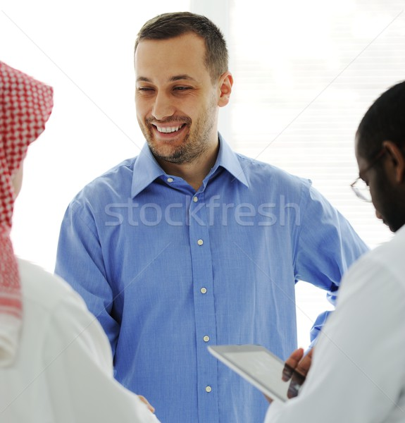 Business meeting at Middle east Stock photo © zurijeta