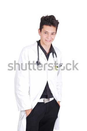 Young teenage male doctor with his hands in pockets Stock photo © zurijeta