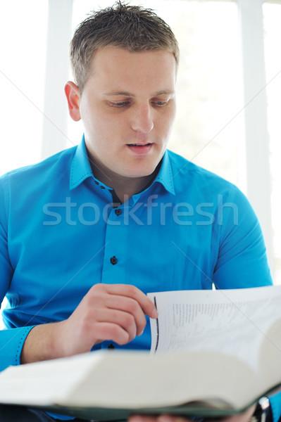 Сток-фото: изображение · человека · книга · рук · бизнесмен · костюм