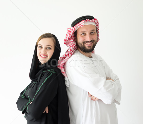 Happy Arabic wife and husband Stock photo © zurijeta