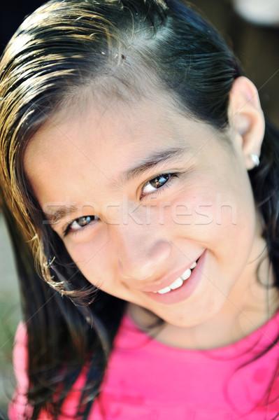 Beautiful girl outdoor Stock photo © zurijeta