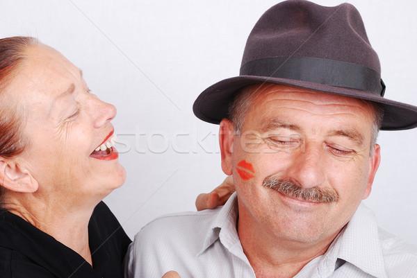 Kus situatie witte geïsoleerd gelukkig Stockfoto © zurijeta