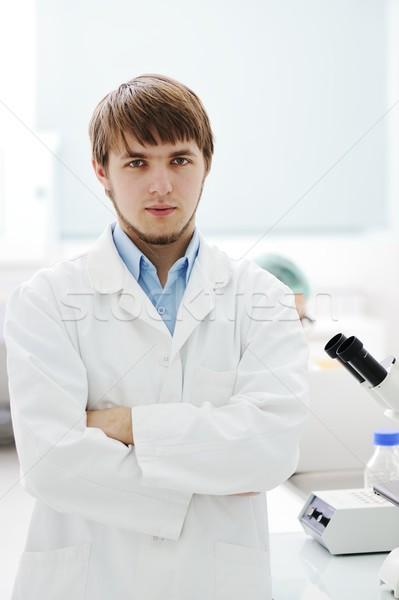 Jeunes science travailleurs recherche médicaux laboratoire Photo stock © zurijeta