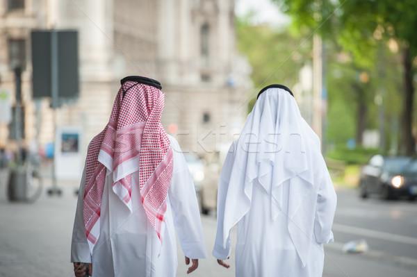 Arabic businessmen walking on the street Stock photo © zurijeta