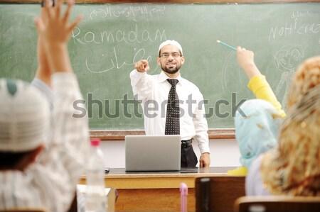 Bom professor sala de aula conselho menina escolas Foto stock © zurijeta