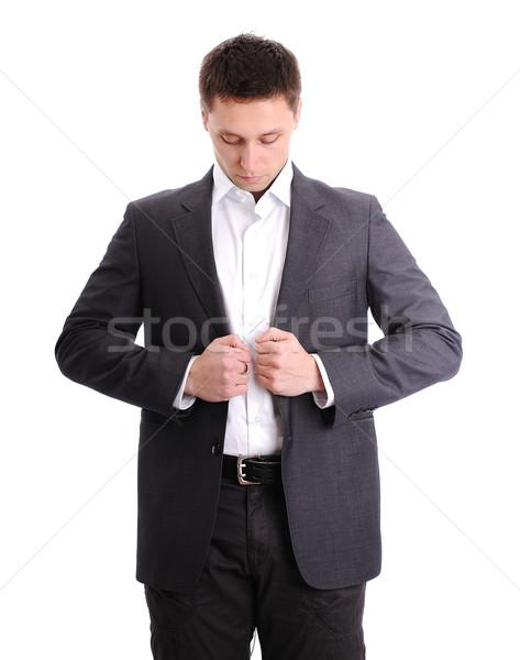 Man wearing suit Stock photo © zurijeta