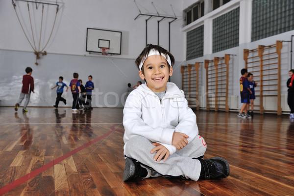 группа детей, играющих баскетбол камеры Сток-фото © zurijeta