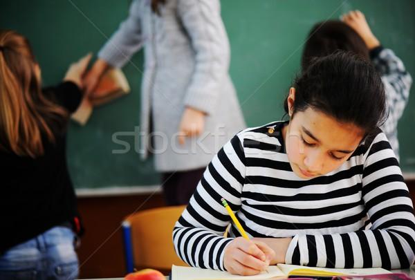 Cute klasie edukacji dziewczyna Zdjęcia stock © zurijeta