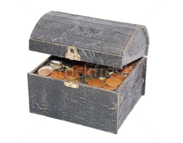 Moedas peito financiar ouro numerário europa Foto stock © zurijeta