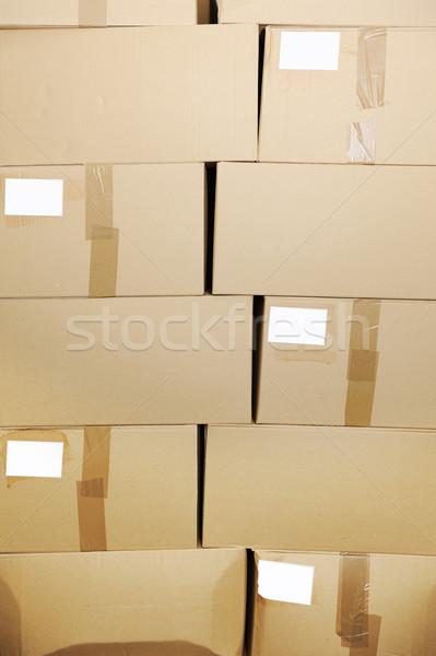 piles of cardboard boxes Stock photo © zurijeta