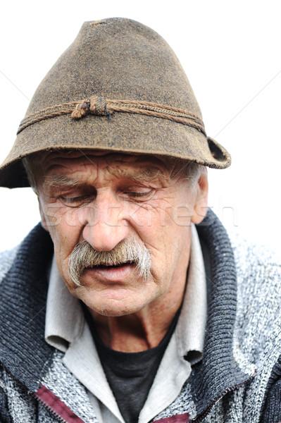 Сток-фото: Nice · изображение · одиноко · старик · лице · человека