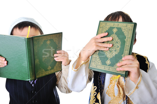 Two boys with holy Quran  Stock photo © zurijeta