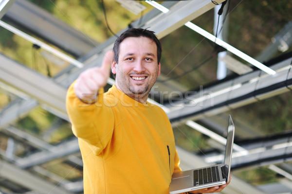 Feliz engenheiro trabalhando negócio trabalhar empresário Foto stock © zurijeta