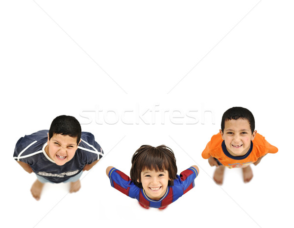 Happy children, large copy space for your message Stock photo © zurijeta