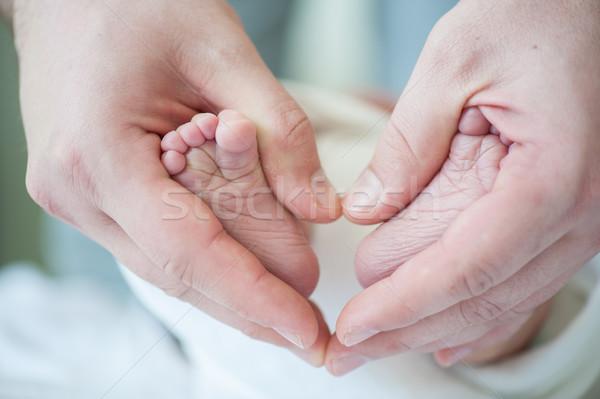 Recién nacido bebé primero día cara salud Foto stock © zurijeta