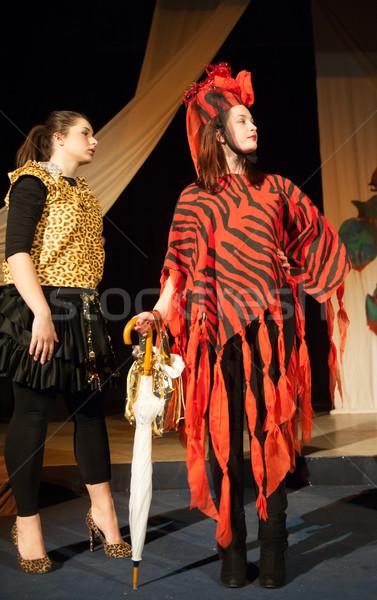 Akt grać wydajność teatr kobieta muzyki Zdjęcia stock © zurijeta