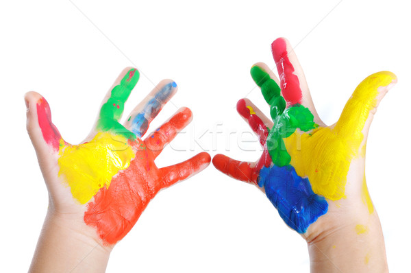 Messy hands, childhood Stock photo © zurijeta