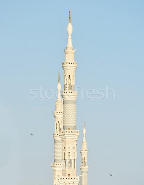Peygamber cami Suudi Arabistan Bina kalabalık Stok fotoğraf © zurijeta