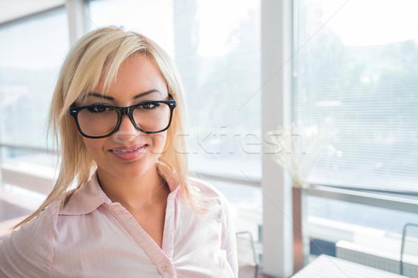 Handsome businesswoman Stock photo © zurijeta