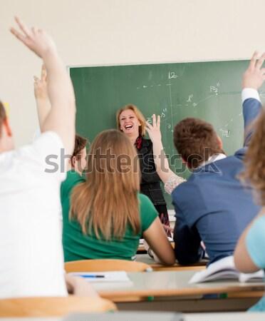 Genç Öğrenciler sınıf okul mutlu öğrenci Stok fotoğraf © zurijeta