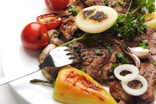 подготовленный украшенный продовольствие таблице дизайна Сток-фото © zurijeta