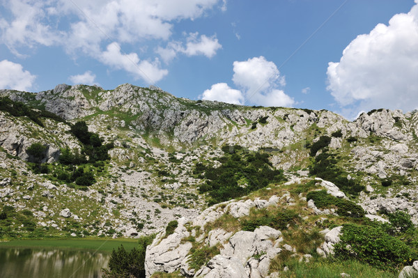 Lake in mountain hills Stock photo © zurijeta