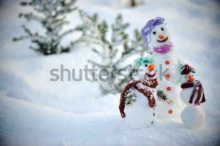 Snowman for winter christmas Stock photo © zurijeta
