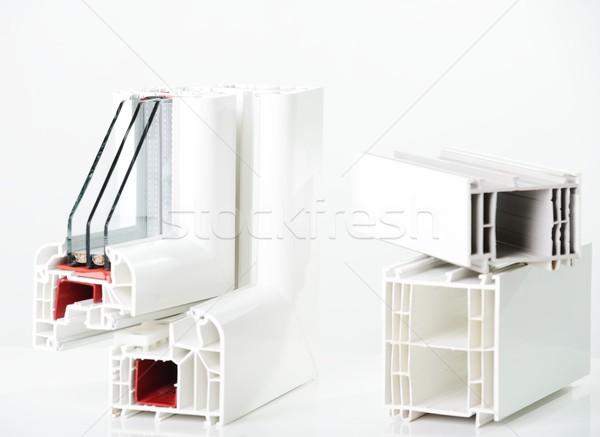 Plastik pencere profil iş ev Bina Stok fotoğraf © zurijeta