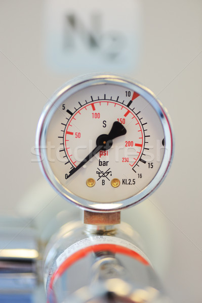 Barometer, nitrogen in hospital lab Stock photo © zurijeta