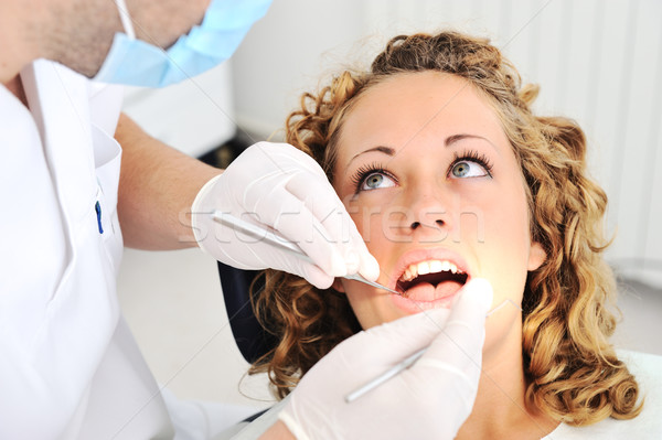 歯科医 歯 写真 オフィス 女性 男 ストックフォト © zurijeta
