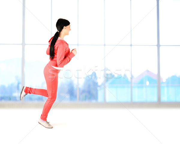 Fitnes,active beautiful healthy girl Stock photo © zurijeta