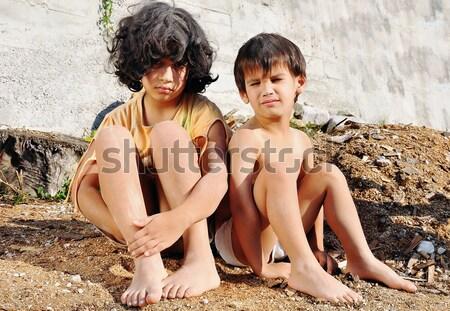 Szegénység gyerekek Stock fotó © zurijeta