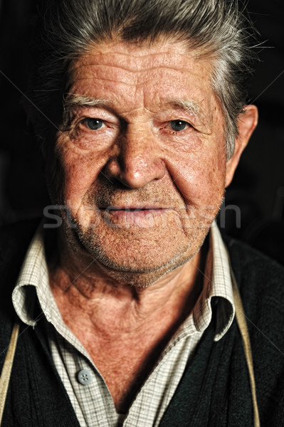 Elderly man, portrait Stock photo © zurijeta