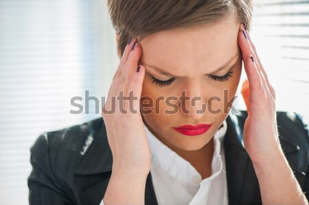 Depressed business woman Stock photo © zurijeta