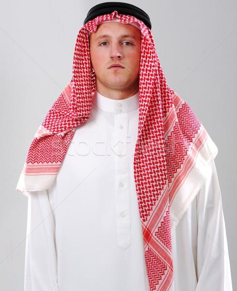 арабский человека портрет бизнесмен Ислам одежду Сток-фото © zurijeta