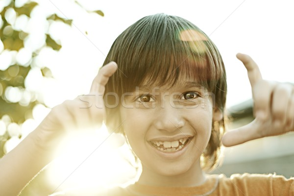 Сток-фото: фото · счастливым · детей · детство · ретро