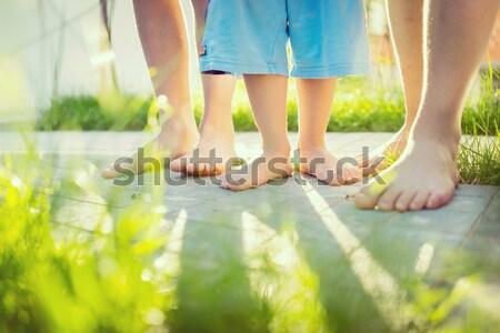çocukluk yaz tatili gülümseme yüz adam Stok fotoğraf © zurijeta