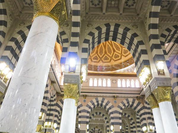 Utazás haddzs Mecca 2013 ív iszlám Stock fotó © zurijeta